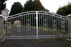 Security gates - Claudy - Irwin Dougherty Engineering - Driveway Gates