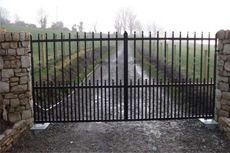 Security railings - Londonderry - Irwin Dougherty Engineering - Gates
